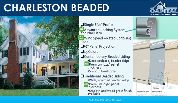Mastic Charleston Beaded Siding