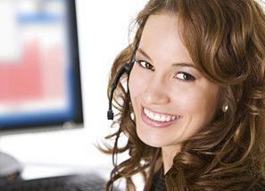 Woman Operator Smiling