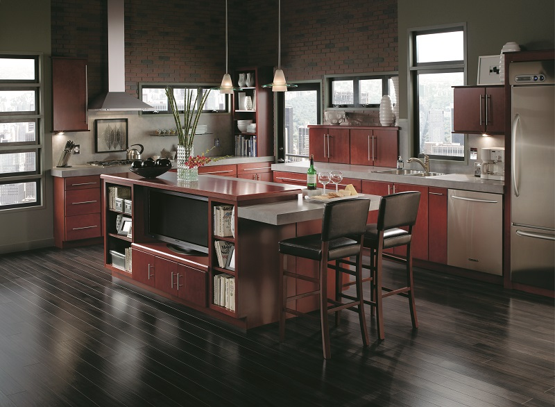 How a kitchen island is a game changer for your kitchen for Capital one kitchen cabinets